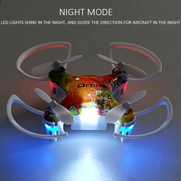 Toys - Phantom Striker 6-Axis Gyro Mini Drone With Easy-To-Fly Technology And Night Mode