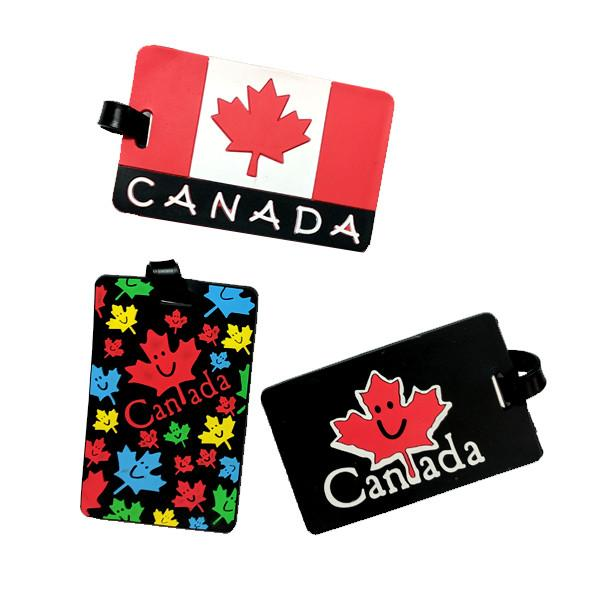 Travel - 2 Pack: Canadian Silicone Luggage Tags