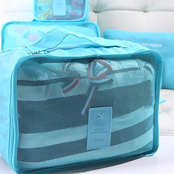 Travel - 6-Piece Water Resistant Travel Bag And Luggage Organizer Set  - Assorted Colors And Prints!