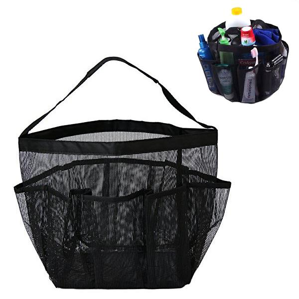 Travel - 8-Pocket Portable Quick Dry Mesh Shower Caddy - Available In 3 Colours!
