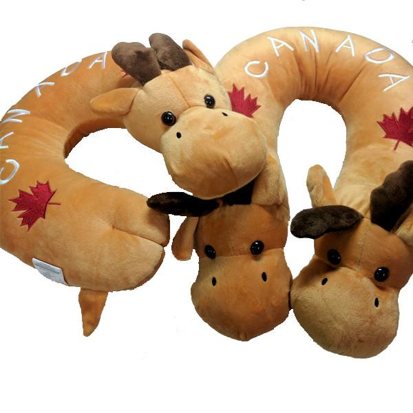 Travel - Super Plush Canadian Moose Neck And Travel Pillow - 2 Sizes Available