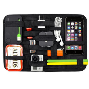 Travel - Super Slim Grid Organizer For Accessories, Tablets & More!