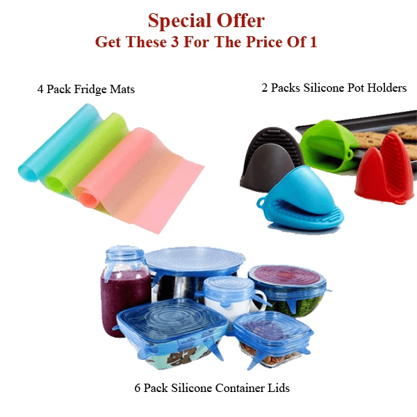 Eco-Friendly Silicone Products - 3 For The Price Of 1!
