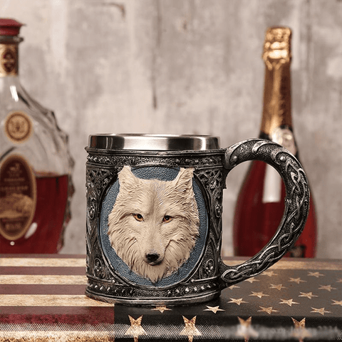 Mystical Wolf Stainless Steel Drinking Mug
