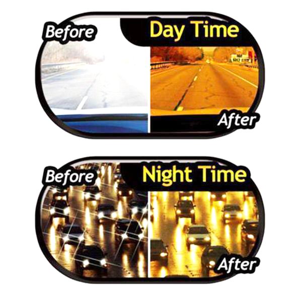 2 Pairs Day & Night Clear Vision Driving Glasses