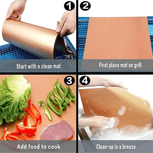 Copper-Infused Grilling & Baking Mats