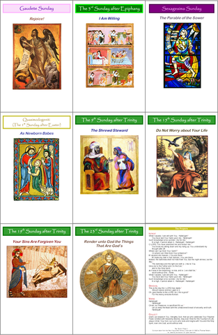 Bulletins for the Historic Lectionary