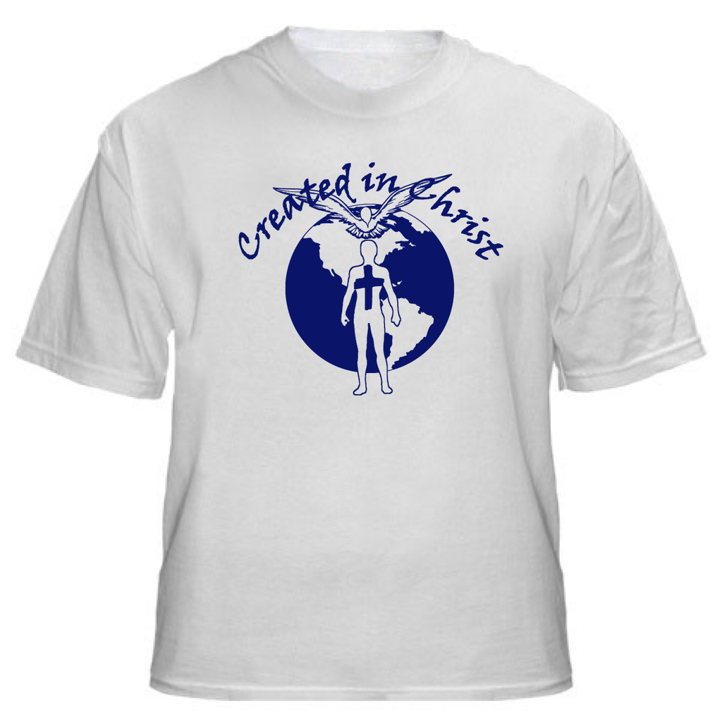 Created in Christ (White T Shirt)