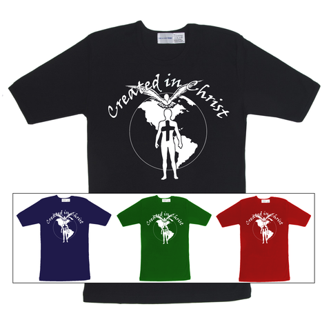 Created in Christ (Colored T Shirts)