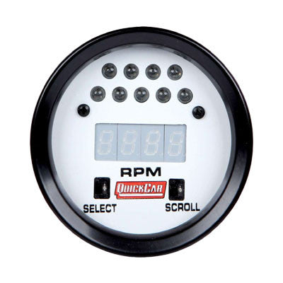 "2-5/8"" Extreme Digital Recall Tachometer - White Face"