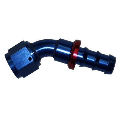 45 Degree Push Lock Hose Ends Blue/Red