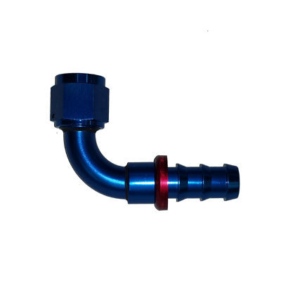 90 Degree Push Lock Hose Ends Blue/Red