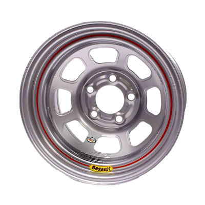 Bassett 15X8 Wissota D-Hole Wheel Silver 5 on 5