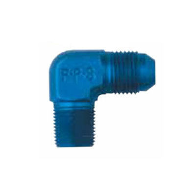 "-4 to 1/8"" NPT 90 Degree Adapters Aluminum"
