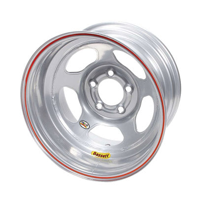 Bassett 15X8 Wissota Inertia Advantage Armor Edge Silver 5 on 5