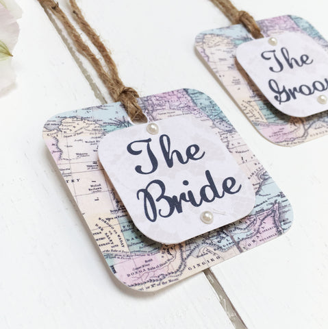 Travel Inspired Wedding Place Setting Tag