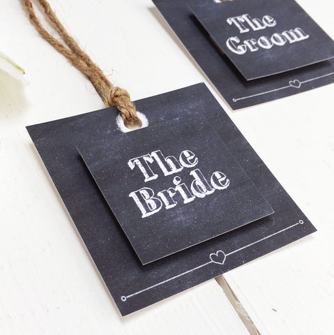 Chalk Wedding Place Setting Tag
