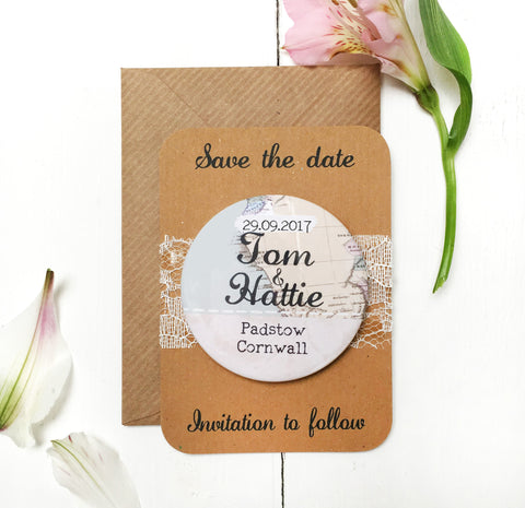 Travel Inspired Save the Date Magnet