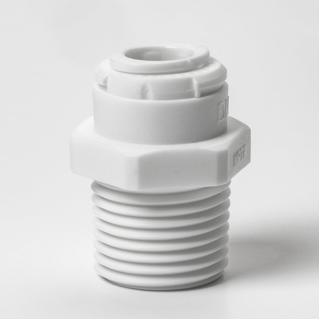 "Male Adapter (1/2"" NPT x 3/8"" Quick-Connect Tubing)"