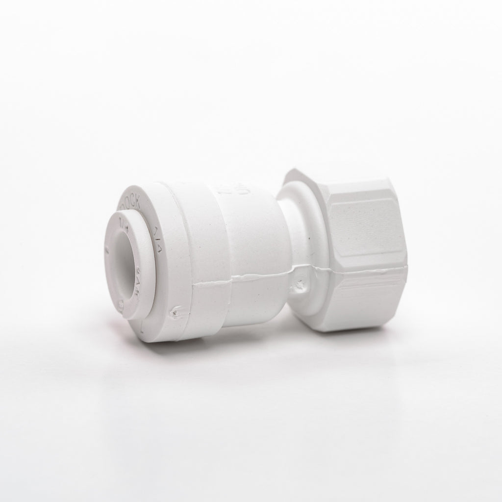 "Faucet Adapter (7/16"" 24 UNS x 1/4"" Tubing)"