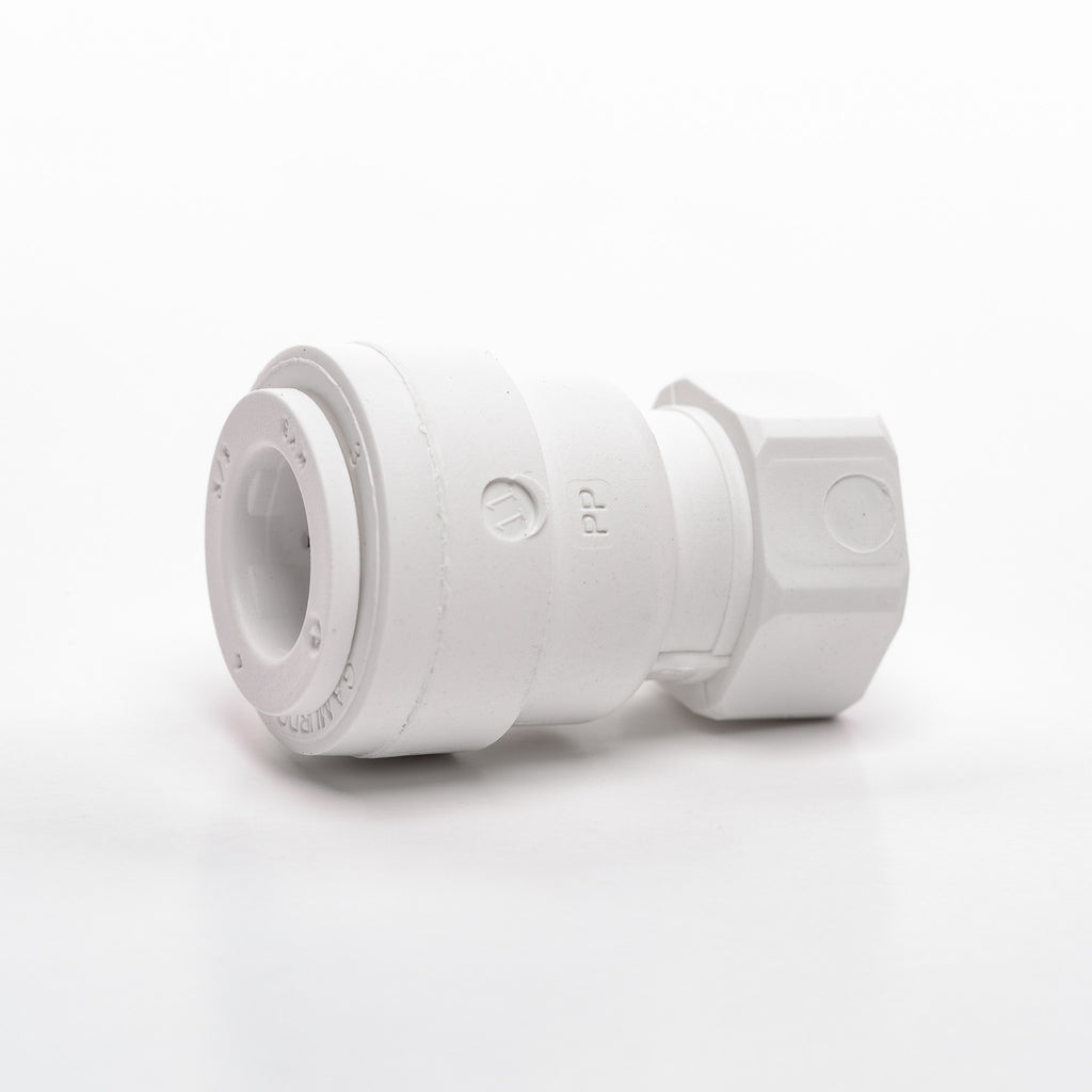 "Faucet Adapter (7/16"" 24 UNS x 3/8"" Tubing)"