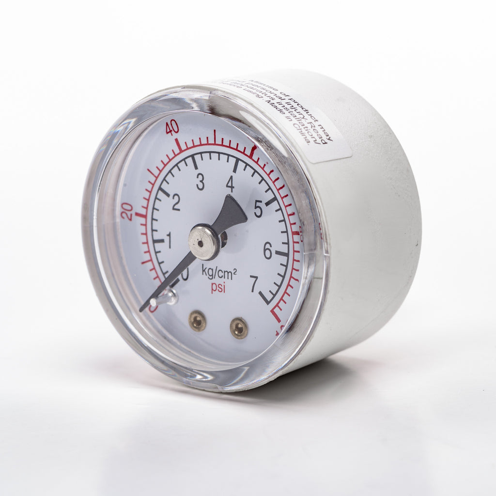 "Back-Mount Pressure Gauge (1/4"" NPT; 0-100psi)"