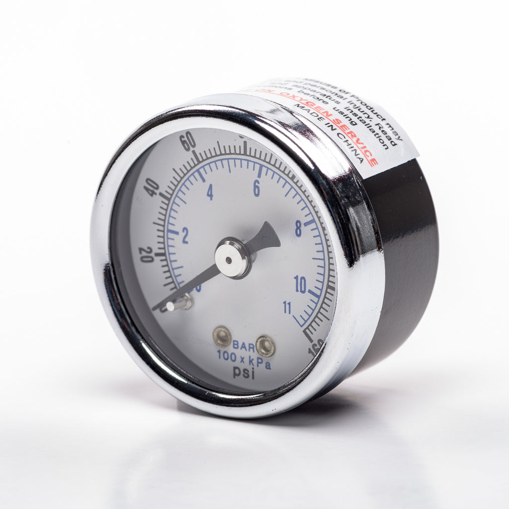 "Back-Mount Pressure Gauge for Regulator (1/8"" NPT; 0-160psi)"