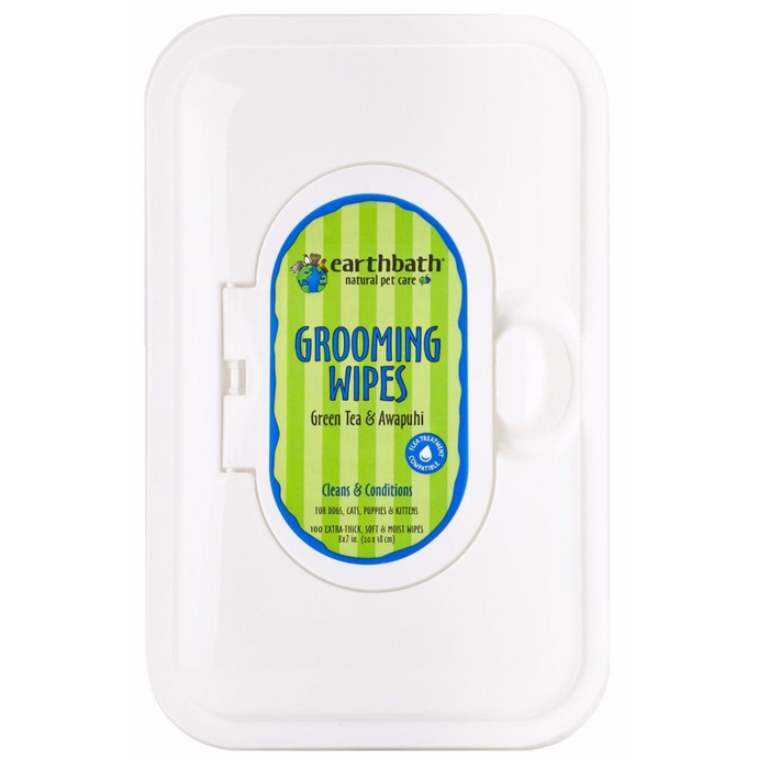 Earthbath Grooming Wipes - Green Tea & Awapuhi