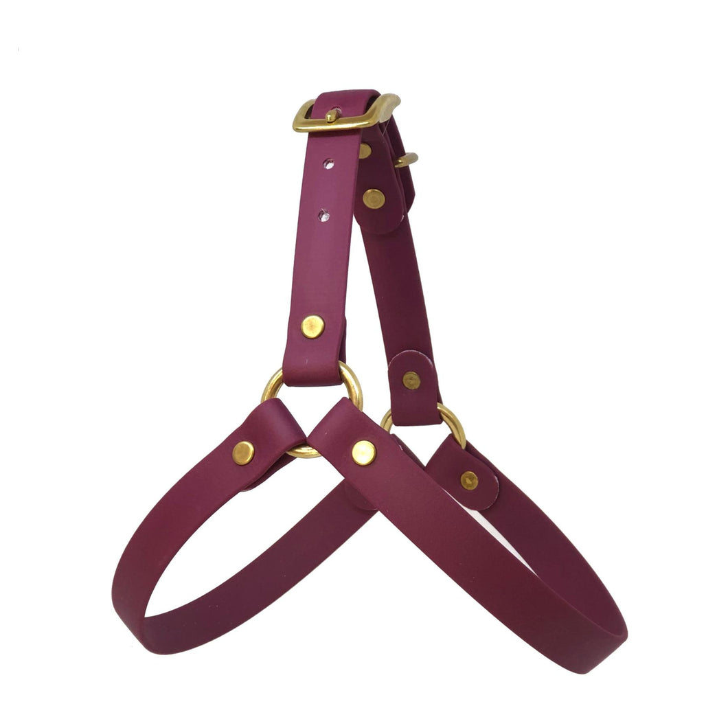 Wag Swag - Vegan Leather Harness Burgundy
