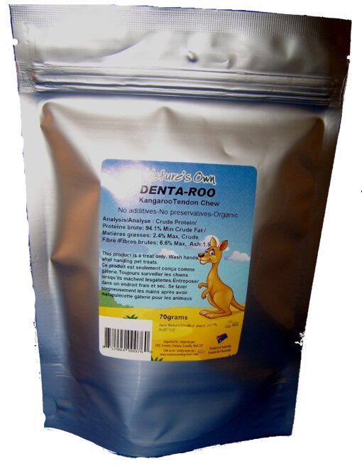 Nature's Own: Kangaroo Tendon - 70g ( Ziplock Bag)