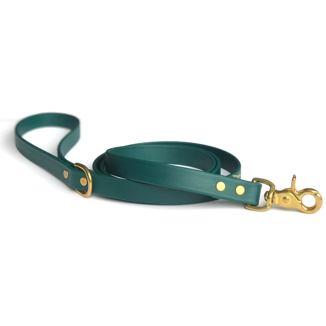 Wag Swag - Vegan Leather Leash Hunter Green