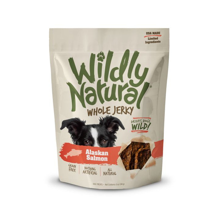 Wildly Natural Whole Jerky Treats for Dogs - Alaskan Salmon