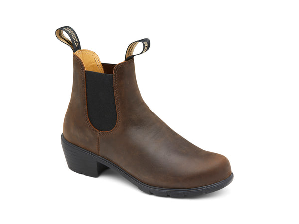 BLUNDSTONE WM'S HEEL STYLE ANTIQUE BROWN - 1673