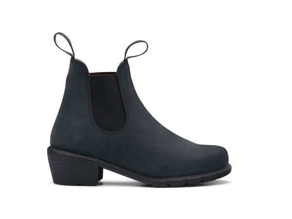 *FINAL SALE* BLUNDSTONE WM'S HEEL STYLE BLACK NUBUCK - 1960