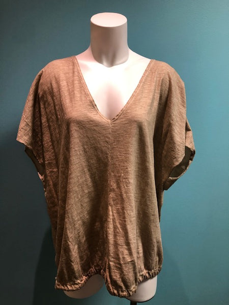 *SALE* SUZY D LONDON TOP TAUPE 197110 - 197110