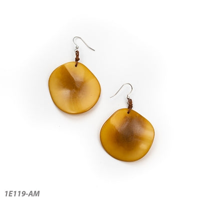 TAGUA NEW ORO EARRINGS AMBER - 1E119AM