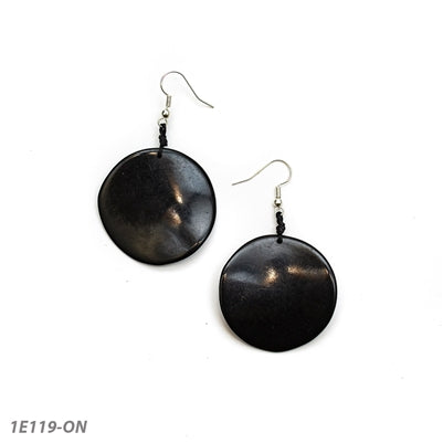 TAGUA NEW ORO EARRINGS ONYX - 1E119ON
