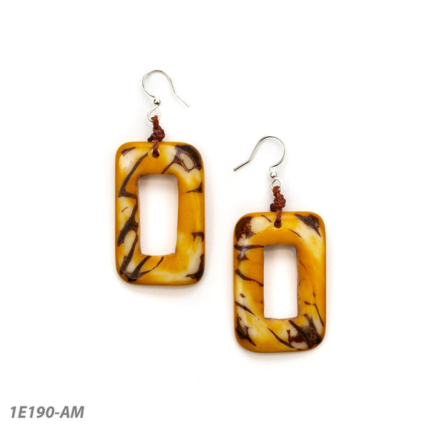 TAGUA PICHINCHA EARRING - AMBER YELLOW - 1E190AM