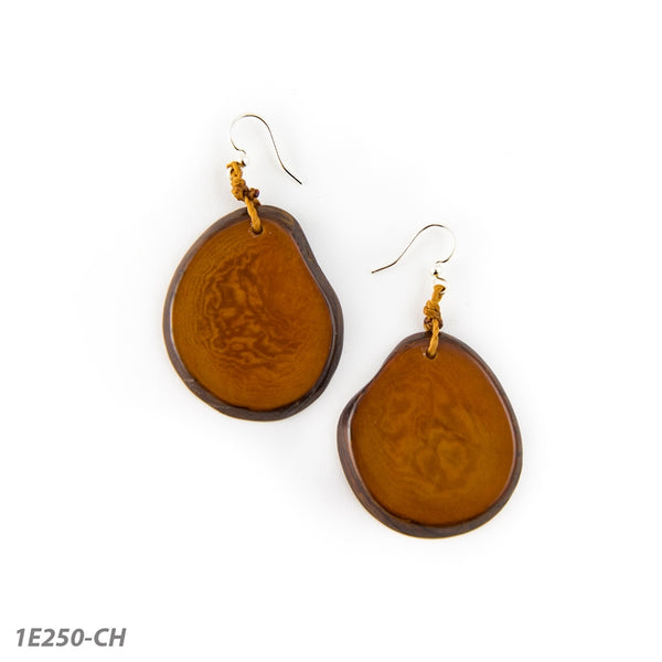 TAGUA AMIGAS EARRINGS - CHESTNUT - 1E250CH