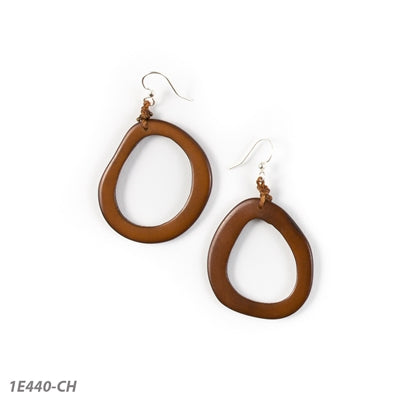 TAGUA MARIANITAS EARRINGS CHESTNUT - 1E440CH