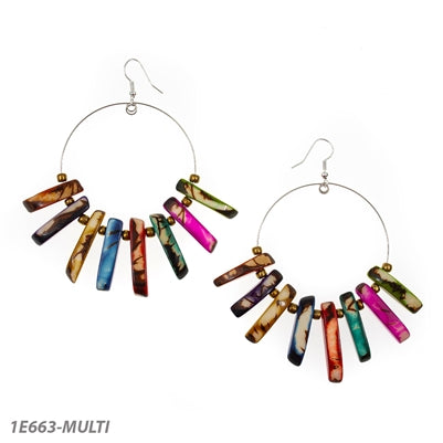 *SALE* TAGUA CRISTINA EARRINGS MULTI - 1E663MULTI