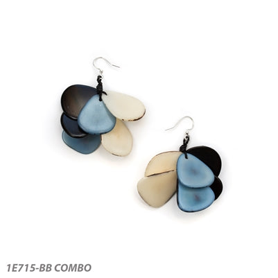 TAGUA MARIPOSA EARRINGS BLUE COMBO - 1E715BB