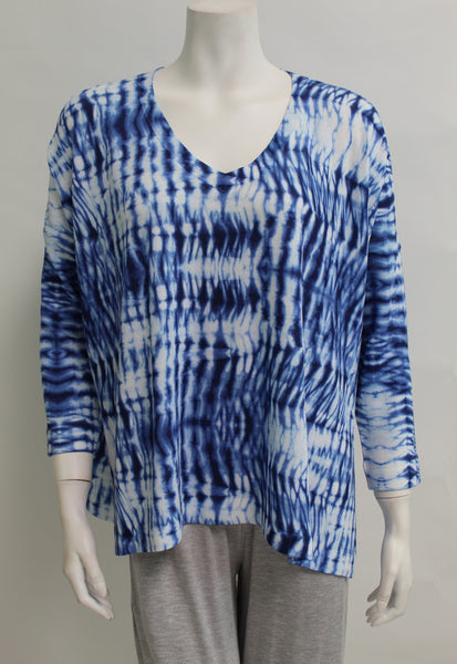 *SALE* NALLY & MILLIE BLUE TIE-DYE TOP - N344400