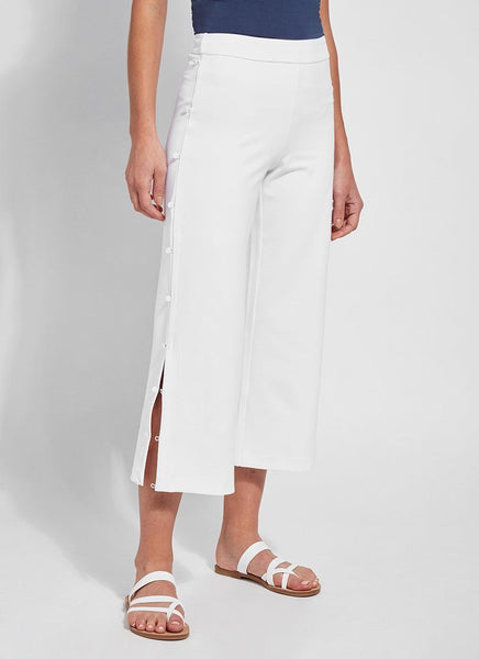 LYSSE LIDO WIDE LEG CROP WHITE - 2548100
