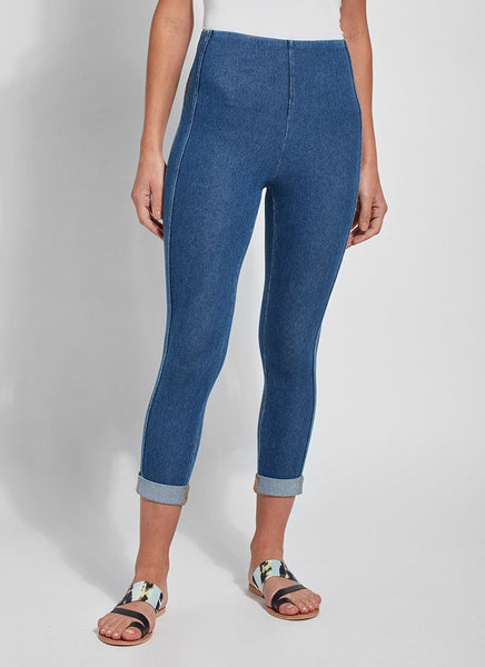 LYSSE VENICE CUFF CROP LEG DENIM BLUE- 2550426