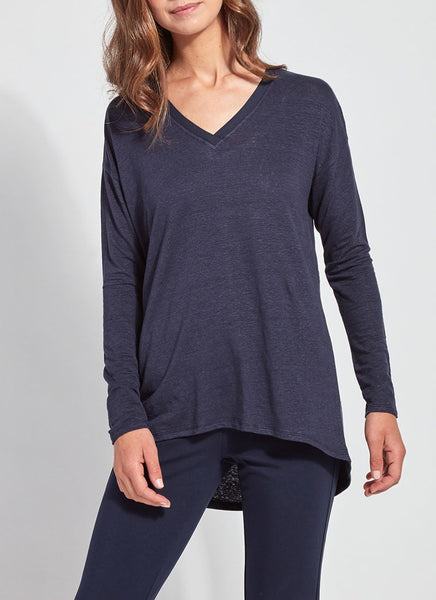 LYSSE MYA LONG-SLEEVE TEE - NAVY - 2754358