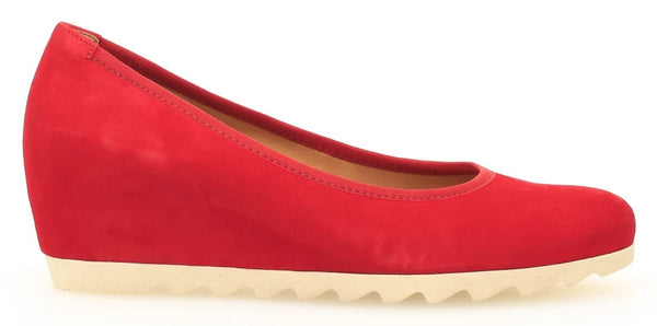 *FINAL SALE* GABOR / KANNER SLIP ON LUG SOLE RED - 3532015