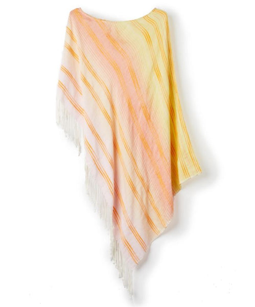 ECHODESIGN GROUP TEXTURED STRIPE PONCHO MULTI - 867000263