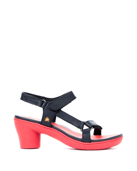 ART. 1472 BLK-R RED SOLE - 1472BLKR
