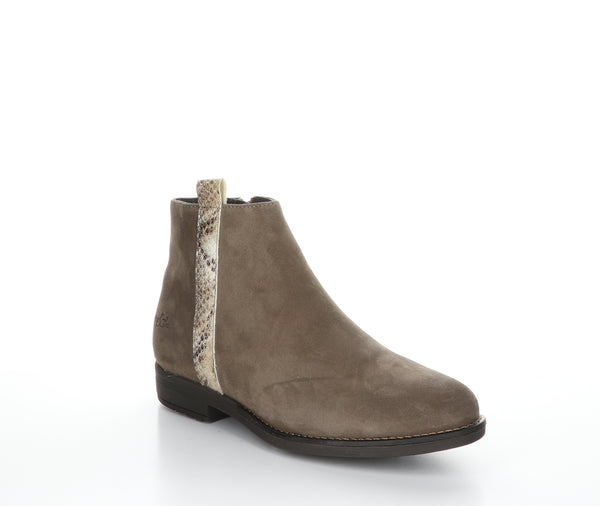 *SALE* BOS & CO RULE SUEDE/SNAKE TAUPE - 29369